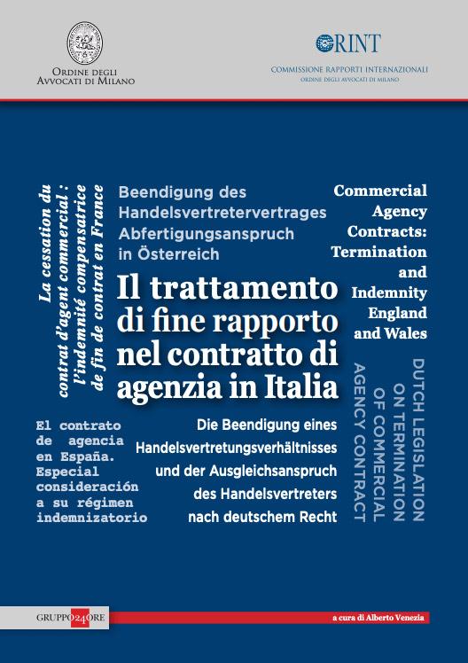 Ebook: Il trattamento di fine rapporto nel contratto di agenzia in Italia   Alberto Venezia